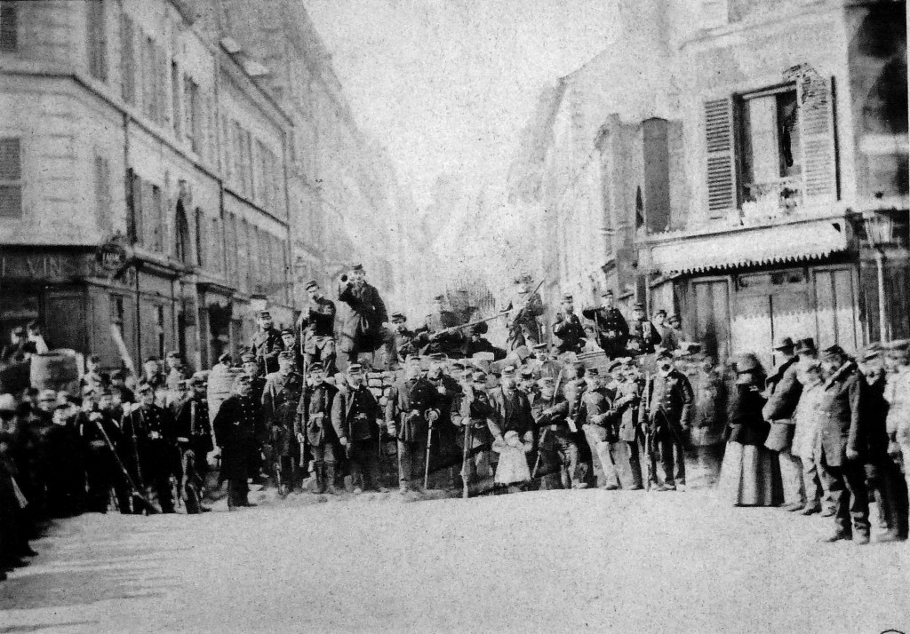 A barricade at the Paris Commune, 1871