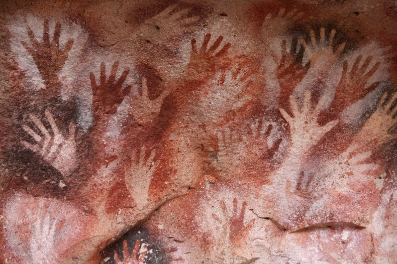 The Cave of Hands, Patagonia, Argentina, circa 7300 BCE.