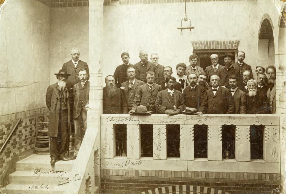 Rosa Luxemburg and other international socialist leaders, including Karl Kautsky (Germany), Victor Adler (Austria), Georgii Plekhanov (Russia), Edouard Vaillant (France) and Sen Katayama (Japan).