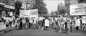 Women's Liberation Movement march in the 1960s.