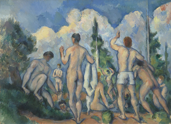 Paul Cézanne, Bathers, circa 1890.