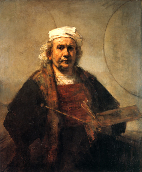 Rembrandt, Self-Portrait with Two Circles, 1865-69.